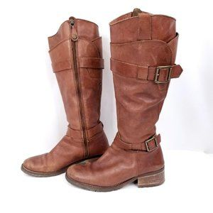 Minelli Vintage Boots Buttery Leather Brown Boho